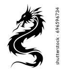 dragon tribal tattoo | Shutterstock .eps vector #696596734