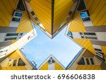 Small photo of Rotterdam, The Netherlands - July 18, 2016: The ultramodern architectures of the famous Cube Houses by Piet Blam architect