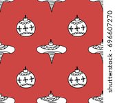 a seamless vector pattern with... | Shutterstock .eps vector #696607270