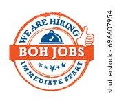 boh jobs  we are hiring ... | Shutterstock .eps vector #696607954