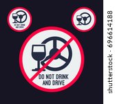 drink and drive sign design  ... | Shutterstock .eps vector #696614188