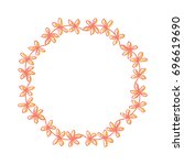 vector decorative wreath. frame ... | Shutterstock .eps vector #696619690