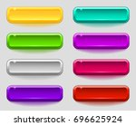 colorful set of smooth buttons. ... | Shutterstock .eps vector #696625924