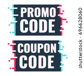 promo code  coupon code. set of ... | Shutterstock .eps vector #696628060