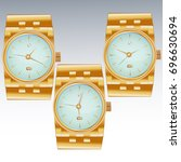 three dials for wristwatches... | Shutterstock .eps vector #696630694