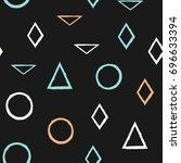 geometric seamless pattern.... | Shutterstock .eps vector #696633394
