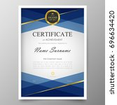 certificate premium template... | Shutterstock .eps vector #696634420