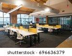 trendy modern open concept loft ... | Shutterstock . vector #696636379