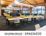 trendy modern open concept loft ... | Shutterstock . vector #696636520
