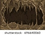 cartoon the cave with... | Shutterstock .eps vector #696640060