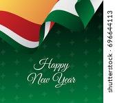banner or poster of seychelles... | Shutterstock .eps vector #696644113