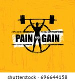 pain and gain. workout and