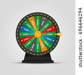 roulette  wheel of fortune icon.... | Shutterstock .eps vector #696646294