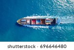 container ship at sea   top