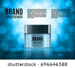 cosmetic ads template.... | Shutterstock .eps vector #696646588