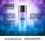 cosmetic ads template.... | Shutterstock .eps vector #696646594