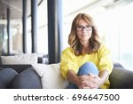 portrait of a beautiful middle... | Shutterstock . vector #696647500