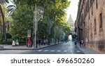 palermo  italy   july 12  2017  ... | Shutterstock . vector #696650260