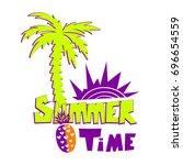 summer time t shirt design on... | Shutterstock .eps vector #696654559