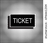 black ticket vector icon.... | Shutterstock .eps vector #696661204