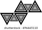 vector hipster triangle... | Shutterstock .eps vector #696665110