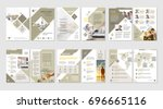brochure creative design.... | Shutterstock .eps vector #696665116