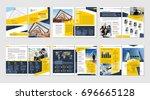 brochure creative design.... | Shutterstock .eps vector #696665128