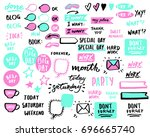 stickers for diary  photo ... | Shutterstock .eps vector #696665740