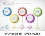 headline infographic design... | Shutterstock .eps vector #696670366