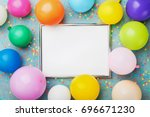 Colorful Balloons  Silver Fram...