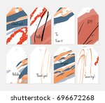 hand drawn creative tags.... | Shutterstock .eps vector #696672268