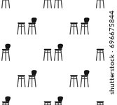 bar stool icon in black style... | Shutterstock . vector #696675844