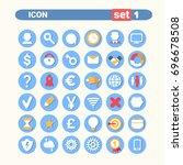 modern icons set web buttons... | Shutterstock .eps vector #696678508