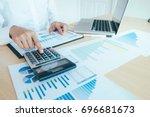 finances saving economy concept.... | Shutterstock . vector #696681673
