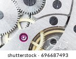 details of watches and... | Shutterstock . vector #696687493