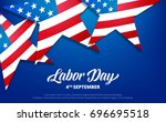 labor day. usa labor day... | Shutterstock .eps vector #696695518