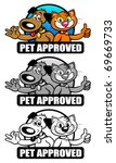 Stock vector pet approved seal set mark 69669733