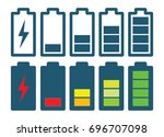 battery charging indicators  ... | Shutterstock .eps vector #696707098