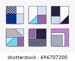 collection with trendy... | Shutterstock .eps vector #696707200