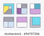 collection with trendy... | Shutterstock .eps vector #696707206
