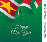 happy new year banner. suriname ... | Shutterstock .eps vector #696707668