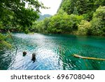 peacock lake  one of the... | Shutterstock . vector #696708040