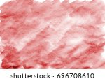 colorful red watercolor... | Shutterstock . vector #696708610