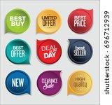abstract modern vector sticker... | Shutterstock .eps vector #696712939