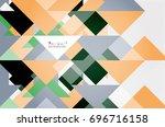 triangle pattern design... | Shutterstock . vector #696716158