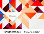 triangle pattern design... | Shutterstock . vector #696716200