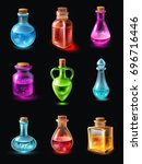 set of bottles of various shape ...
