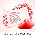 valentine's day card with two... | Shutterstock .eps vector #69671710