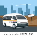 south african taxi on the road | Shutterstock .eps vector #696721153