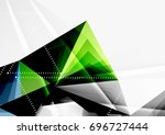 vector low poly style 3d... | Shutterstock .eps vector #696727444